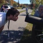 Shawn Carter goofing around in Vermont.