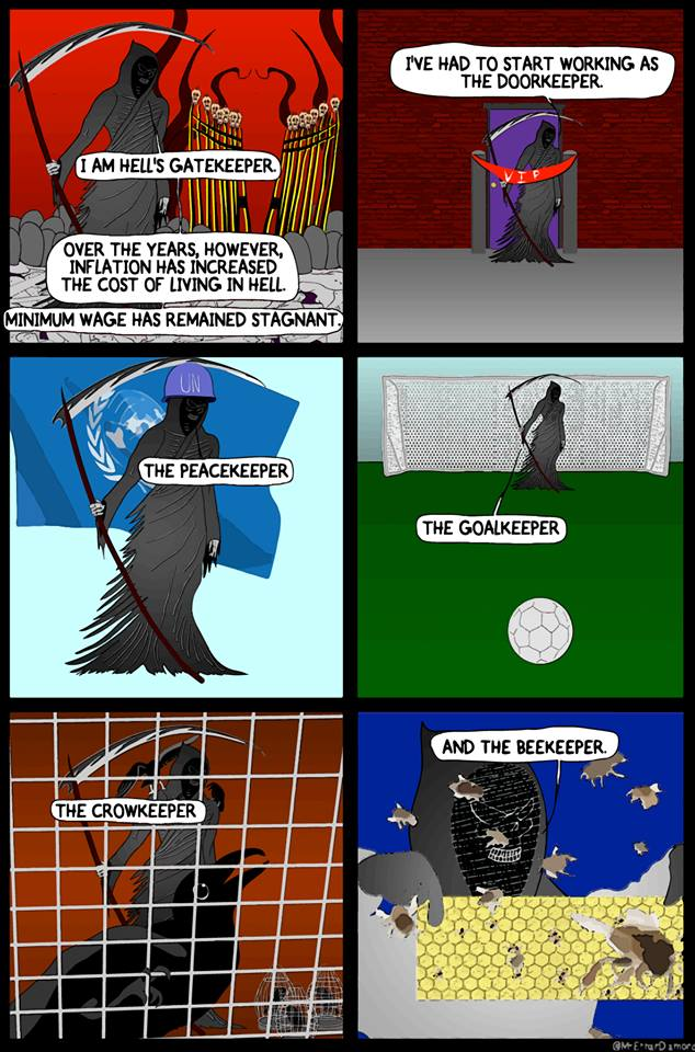 Comic by Ethan Diamond.