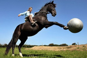 Actual horses are limited to soccer. (via theequinest.com)