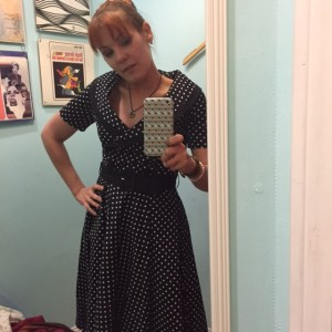 Then my girliness got the better of me and I bought this awesome dress at this awesome vintage store, Modern Millie.
